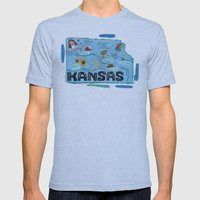 KANSAS Mens Fitted Tee Athletic Blue SMALL