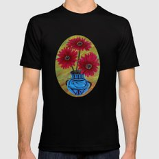 Blue vase with flowers/ still life  SMALL Black Mens Fitted Tee