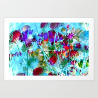 Secret Garden II - Floral Abstract Art Art Print