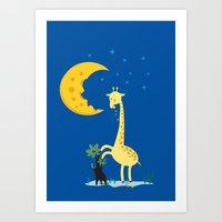 The Delicious Moon Chees… Art Print