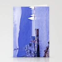 Sailboats end. Stationery Cards