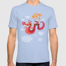 Dragona Mens Fitted Tee Tri-Blue SMALL