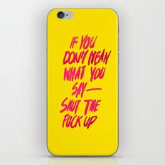 MEAN / Popart Version iPhone & iPod Skin