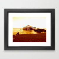 brighton west pier (07) Framed Art Print