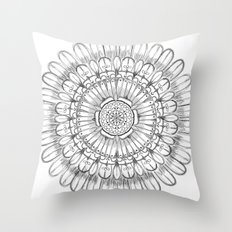 Flower Mandala Throw Pillow