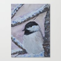Maine Chickadee Canvas Print