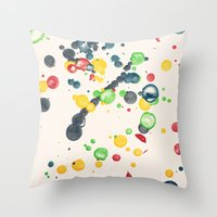Crayon Love: Splatter This Throw Pillow