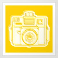 I Still Shoot Film Holga Logo - Reversed Yellow Art Print
