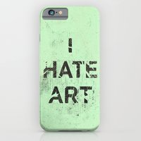 iPhone & iPod Case featuring I HATE ART / PAINT by ICE CREAM FOR FREE