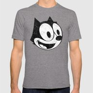 Felix The Cat 2 Mens Fitted Tee Tri-Grey SMALL