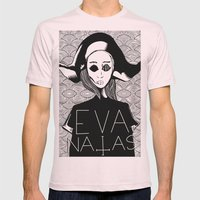 eva natas Mens Fitted Tee Light Pink SMALL