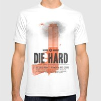 Die Hard (Full poster variant) Mens Fitted Tee White SMALL