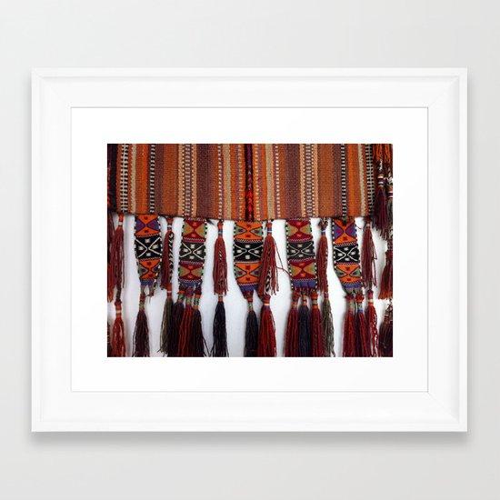 Native American Rug Framed Art Print