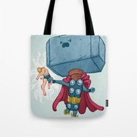The Mighty Mjolnir Tote Bag