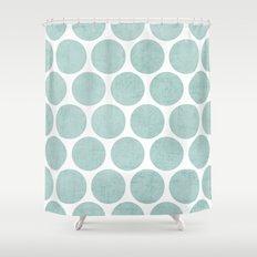 robins egg blue polka dots Shower Curtain