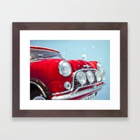 deep water swimming mini #2 Framed Art Print