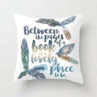 Between The Pages - Feat… Throw Pillow