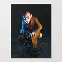 Nosferatu On A Tricycle Canvas Print