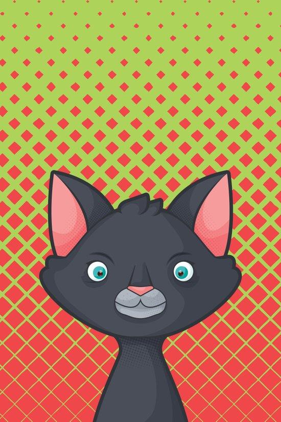 Pop Cats: Vampiro Art Print
