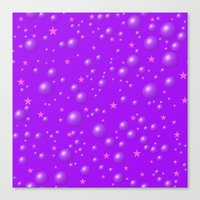 It's a purple dream among the stars Canvas Print