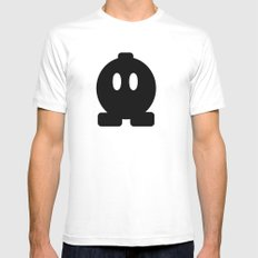Bom Omb SMALL White Mens Fitted Tee