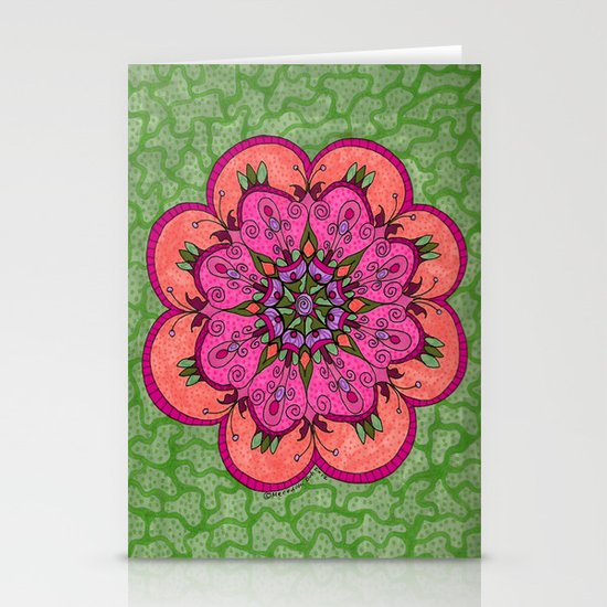 Pink Mandala Stationery Card