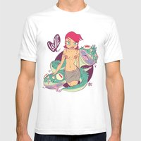 Babes&Monsters  Mens Fitted Tee White SMALL