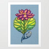 Lotus in Love Art Print