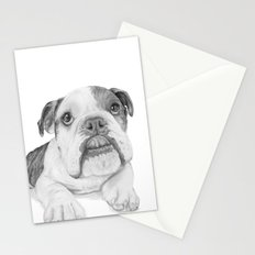 A Bulldog Puppy Stationery Cards