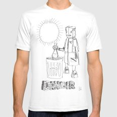 Danger. [SKETCH] White Mens Fitted Tee SMALL