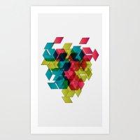 Geomexplosion Art Print