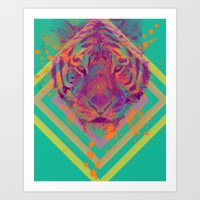 Tiger Bright Art Print