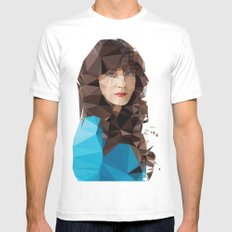 Zooey Deschanel SMALL White Mens Fitted Tee