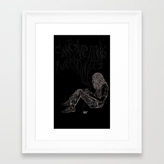 kurt vile t-shirt Framed Art Print