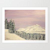 Winters soft blanket Art Print