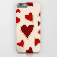 Ditsy dark hearts for lovers iPhone 6 Slim Case