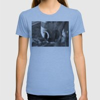 Fuzzy Muzzle Womens Fitted Tee Athletic Blue SMALL