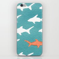 Splashy Sharks iPhone & iPod Skin