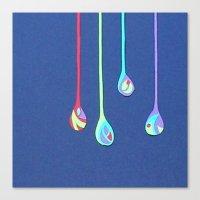 Jewel Drops Papercut Canvas Print