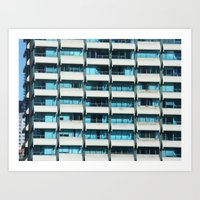 Turquoise Windows Art Print