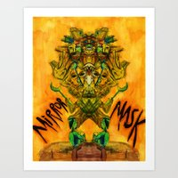 Mirror Mask Art Print