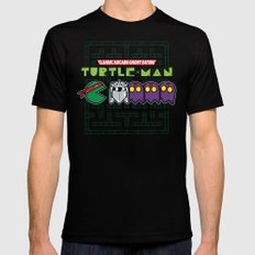 Hero in a Pac-Shell (Raph) Mens Fitted Tee Black SMALL