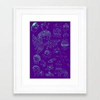 Space Sketch Framed Art Print