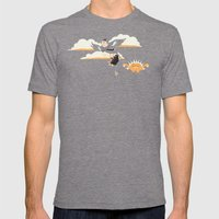 Early Bird Mens Fitted Tee Tri-Grey SMALL