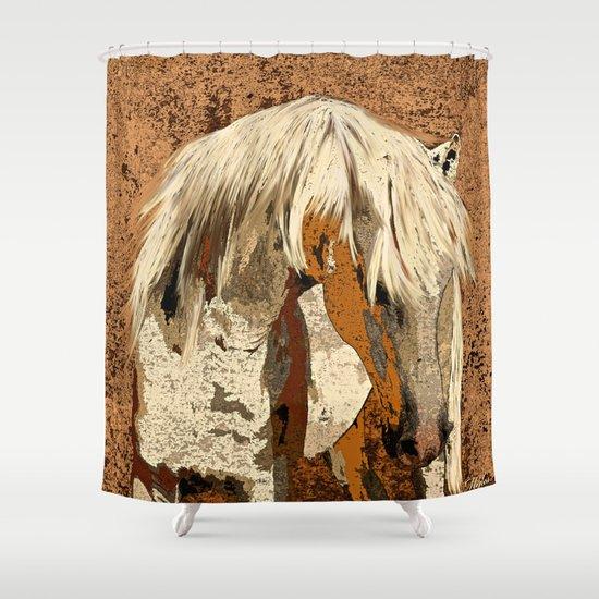 horse shower curtain by saundra myles society6