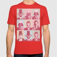 Pop Wars Mens Fitted Tee Red SMALL