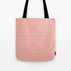 80's Pastel Stripes on Pink  /// www.pencilmeinstationery.com Tote Bag