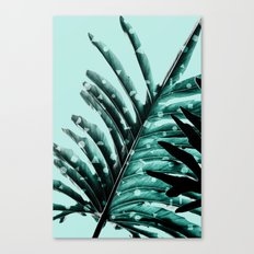 Leaves 2 Geometry Canvas Print