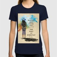 Art Washes Soul Womens Fitted Tee Navy MEDIUM