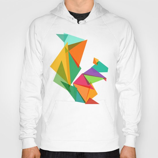 Fractal geometric Squirrel Hoody